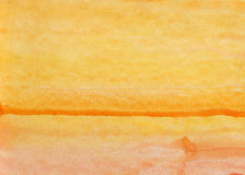 Kolor żółty akwareli różowy tło Fotografia Stock