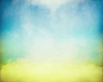 Kolor żółty Błękitna mgła Obraz Royalty Free