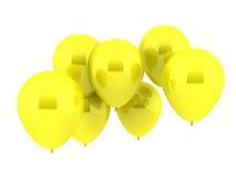 Kolor żółty balony Zdjęcie Royalty Free