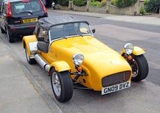 Kolor żółty bawi się zestawu samochód Zdjęcie Royalty Free