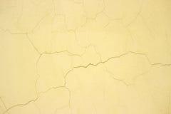 Kolor żółty Betonowa tekstura, cementowa malująca ściana, miastowy tło c obrazy royalty free