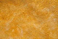 Kolor żółty betonowa tekstura od ściany Obraz Royalty Free