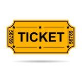 Kolor żółty bilet Zdjęcia Royalty Free