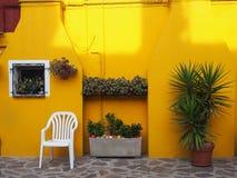 Kolor żółty - Burano Obrazy Stock