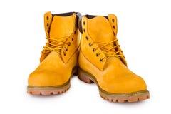 Kolor żółty buty Fotografia Royalty Free
