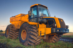 Kolor żółty ciężarówka Zdjęcia Stock