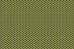 Kolor żółty czerń wzoru tło z pentagonami Fotografia Royalty Free