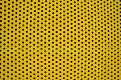 Kolor żółty dekoraci dziurkowaty materiał Fotografia Royalty Free