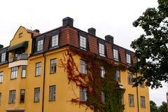 Kolor żółty dom Obraz Royalty Free