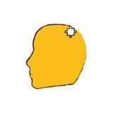 kolor żółty głowy łamigłówka składa wizerunek Zdjęcia Royalty Free