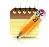 Kolor żółty gruby ołówek ilustracja wektor