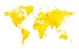 Kolor żółty gwiazdowa pusta światowa mapa ilustracji