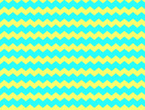 Kolor żółty i aqua szewron Obraz Royalty Free