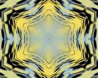 Kolor żółty i błękitny Falisty abstrakcjonistyczny silky tło royalty ilustracja
