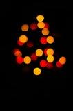 Kolor żółty i czerwona kropka Fotografia Royalty Free