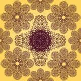 Kolor żółty i Fiołkowy Bezszwowy wzór Obrazy Stock