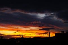 Kolor żółty i popielaty niebo Zdjęcie Stock