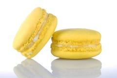 Kolor żółty Macaroons Zdjęcie Royalty Free