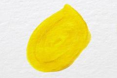 Kolor żółty na papierze Zdjęcie Royalty Free