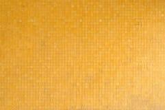 Kolor żółty płytki ściana Zdjęcie Stock