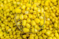 Kolor żółty pieprz Zdjęcie Stock