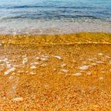 Kolor żółty plaża w Ios, Grecja Obraz Stock