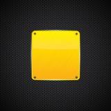 Kolor żółty polerujący błyszczący metalu talerz - wektor Obrazy Stock