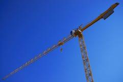 Kolor żółty przemysłowy żuraw zdjęcie stock