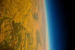 Kolor żółty pustyni planeta Obrazy Stock