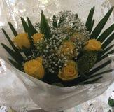 Kolor żółty róży bukiet Zdjęcia Stock