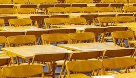 Kolor żółty stołu wzór Fotografia Stock