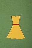 Kolor żółty suknia Obrazy Stock