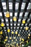 Kolor żółty tarasowe lampy Fotografia Stock