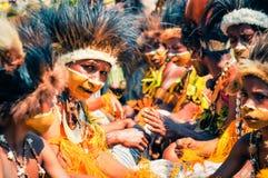 Kolor żółty w Papua - nowa gwinea Zdjęcia Royalty Free