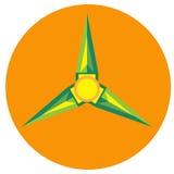 Kolor żółty z zielonymi kądziołków ostrzami Obraz Royalty Free