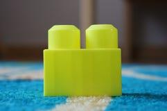Kolor żółty zabawki blok Obraz Royalty Free