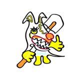 Kolor żółty ziemi psa dzieci rysować Obrazy Royalty Free