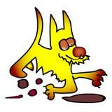 Kolor żółty ziemi psa dzieci rysować Obraz Royalty Free