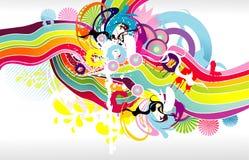 kolor abstrakcjonistyczna fantazja Fotografia Stock