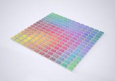 Kolor abstrakcjonistyczna paleta Zdjęcia Stock