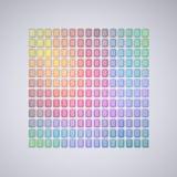Kolor abstrakcjonistyczna paleta Zdjęcia Royalty Free
