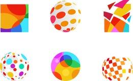 Kolor abstrakcjonistyczne ikony Zdjęcia Stock