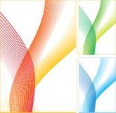 kolor abstrakcjonistyczne linie Obrazy Stock
