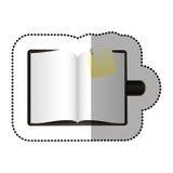 kolor agenda z dużą papier notatką Fotografia Royalty Free