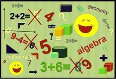 Kolor algebra - liczby preschool edukacja dla dzieciaków Obrazy Royalty Free