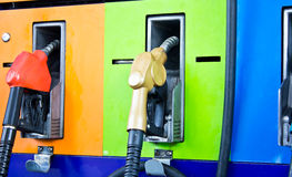 Benzynowej staci pompy Zdjęcia Stock