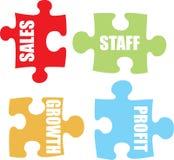 kolor biznesowej jigsaw ilustracja wektor