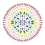 7 kolor chakra mandala symbolu pojęcie, kwitnie kwiecistego, akwarela obraz royalty ilustracja