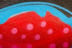 Kolor ściana malował z kiści teksturą, Abstrakcjonistyczny tło Obraz Royalty Free