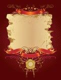 kolor czerwony dekoracyjna banner Obrazy Royalty Free